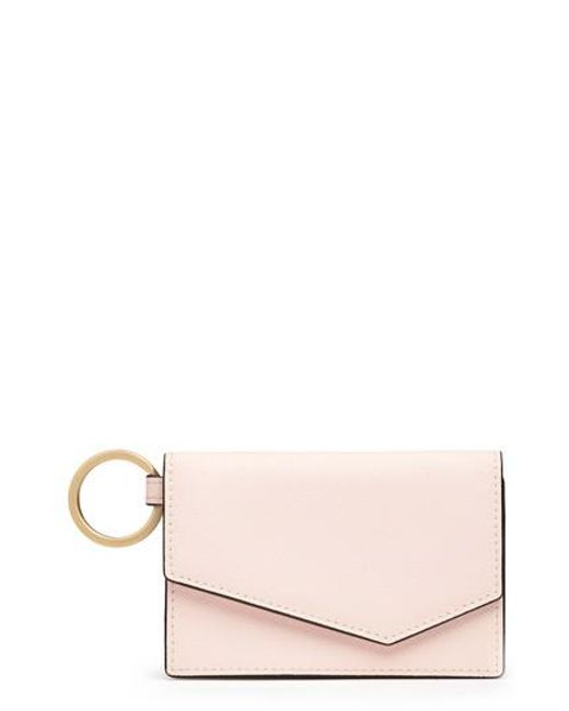Botkier - Pink Cobble Hill Saffiano Leather Card Case - Lyst