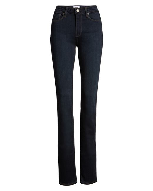 PAIGE - Blue Transcend - Hoxton High Waist Straight Jeans - Lyst