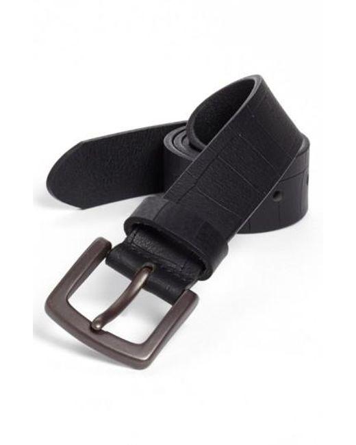 Bosca   Black Gator Embossed Belt for Men   Lyst