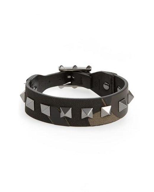 Valentino Multicolor Studded Camo Bracelet For Men Lyst