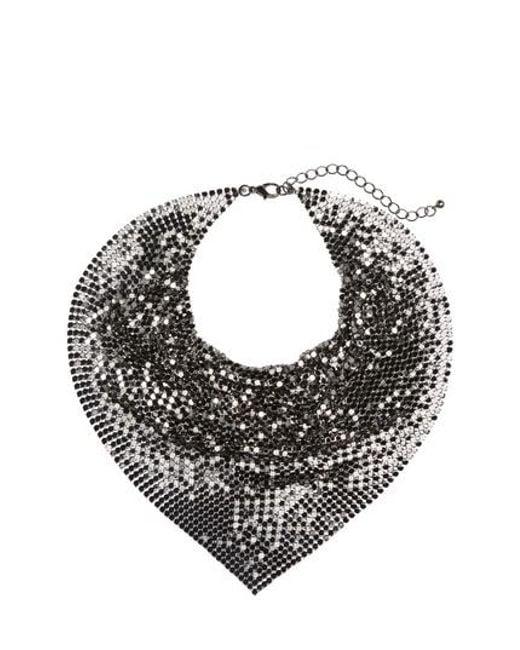 Cara   Multicolor Metal Mesh Kerchief Necklace   Lyst