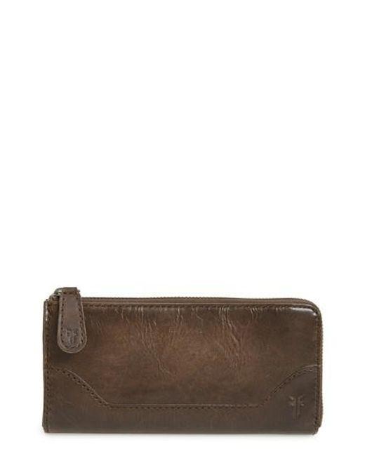 Frye - Brown Melissa Leather Wallet - Lyst