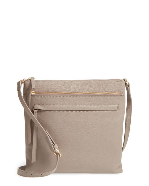 Nordstrom - Gray Finn Leather Crossbody Bag - Lyst