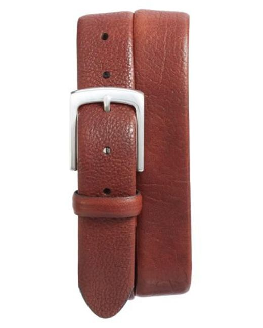 Bosca   Brown Tubular Leather Belt for Men   Lyst