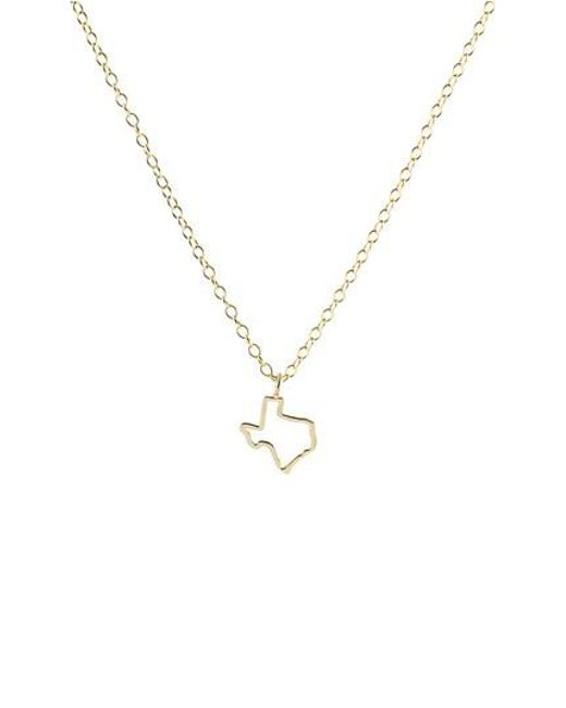 Kris Nations | Metallic Texas Outline Charm Necklace | Lyst