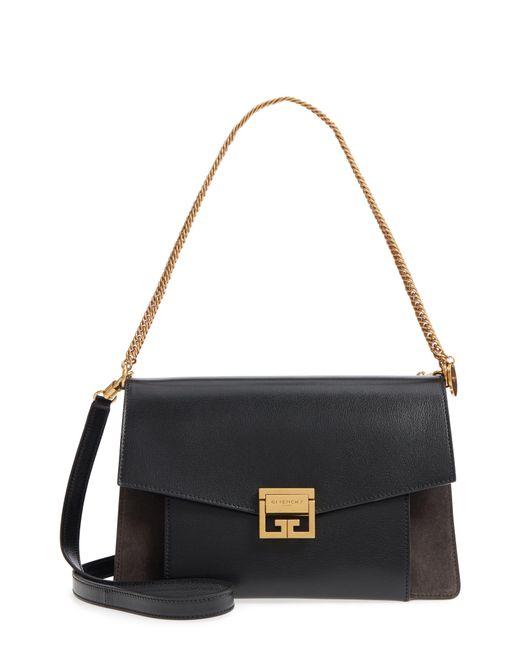 Givenchy Black Medium Gv3 Leather Crossbody Bag
