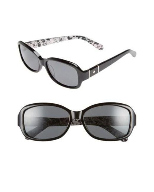 Kate Spade | Cheyenne 55mm Polarized Sunglasses - Havana/ Brown Polar | Lyst