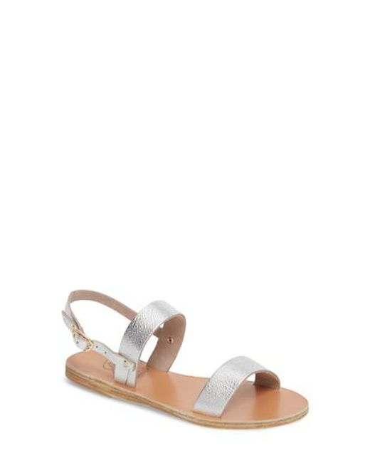 Ancient Greek Sandals   Metallic Clio Slingback Sandal   Lyst