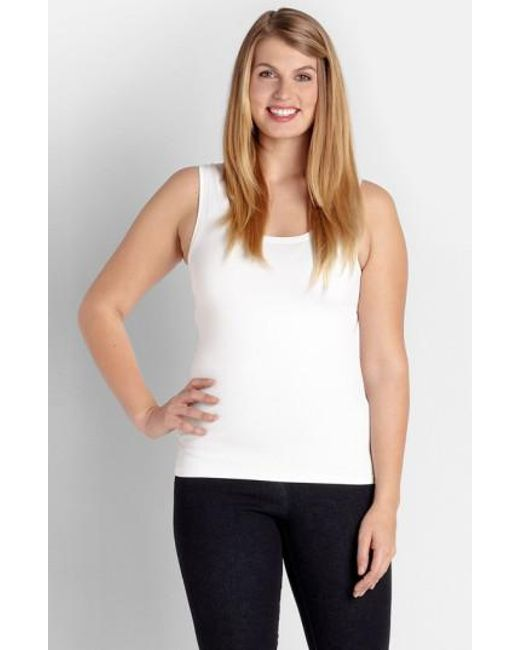 Karen Kane | White Supersoft Tank | Lyst