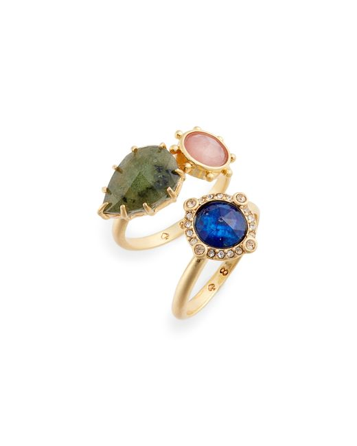 Kate Spade - Metallic Perfectly Imperfect Stone Ring Duo - Lyst