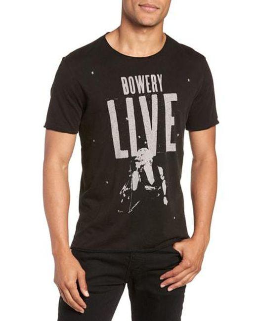 John Varvatos - Black Bowery Live Graphic T-shirt for Men - Lyst