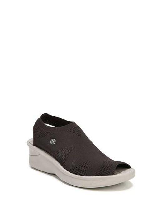 Bzees - Multicolor Secret Peep Toe Knit Sneaker - Lyst