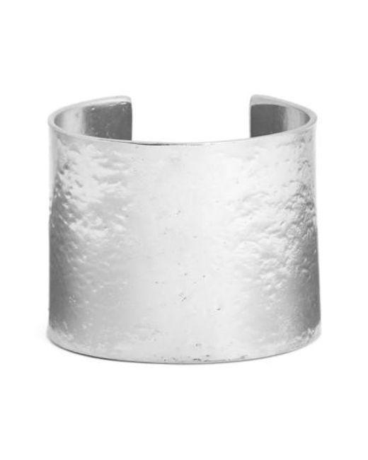 Karine Sultan | Metallic Hammered Cuff | Lyst