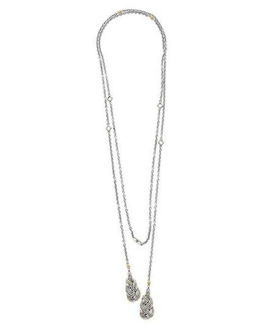 Lagos - Metallic Torsade Lariat Necklace - Lyst