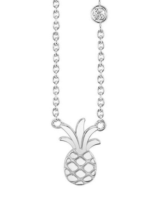 Shy By Sydney Evan - Metallic Pineapple Diamond Pendant Necklace - Lyst