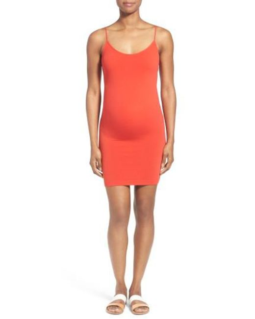 Tees by Tina | Orange Maternity Slip Dress | Lyst
