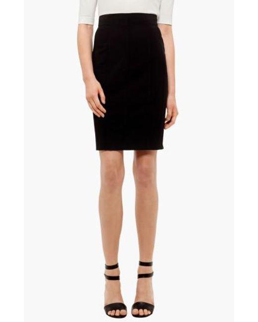 Akris Punto - Black Wool Pencil Skirt - Lyst