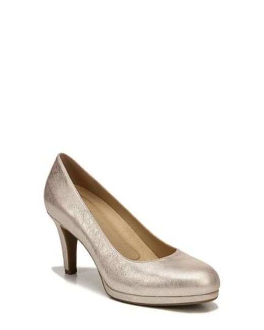 Naturalizer - Brown 'michelle' Almond Toe Pump - Lyst