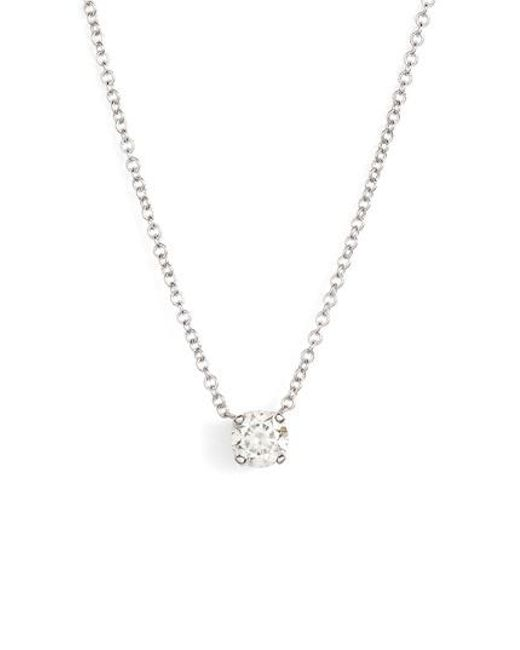 Lyst bony levy liora solitaire diamond pendant necklace nordstrom bony levy metallic liora solitaire diamond pendant necklace nordstrom exclusive lyst aloadofball Image collections