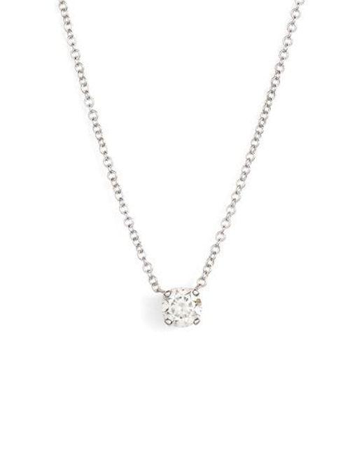 Lyst bony levy liora solitaire diamond pendant necklace nordstrom bony levy metallic liora solitaire diamond pendant necklace nordstrom exclusive lyst aloadofball Images