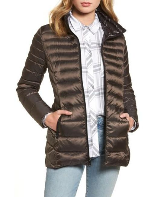 Vince Camuto | Gray Packable Down Jacket, Grey | Lyst