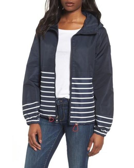 Vince Camuto - Blue Stripe Windbreaker Jacket - Lyst