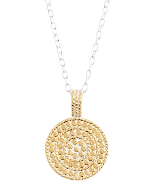 Anna Beck - Metallic Jewelry That Makes A Difference Circle Of Life Pendant Necklace - Lyst