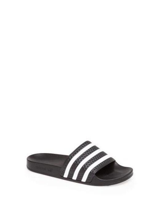 Adidas   Black 'adilette' Slide Sandal   Lyst