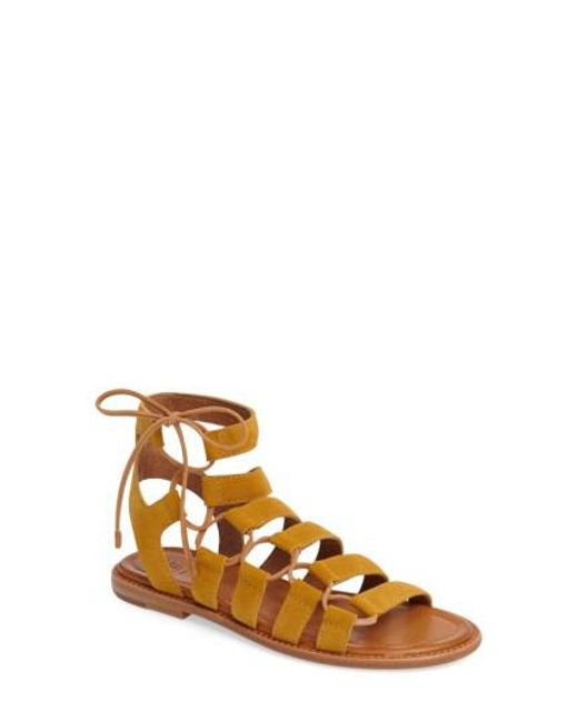 Frye | Yellow Blair Ghillie Sandal | Lyst