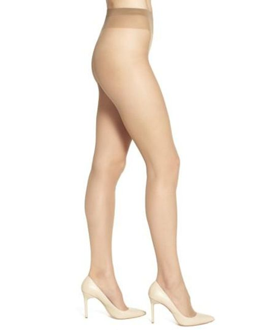 Wolford - Brown 'individual 10' Pantyhose - Lyst