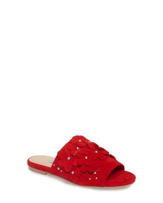 Charles David - Red Sicilian Slide Sandal - Lyst