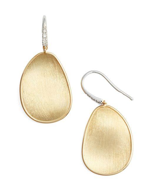 Marco Bicego - Metallic Lunaria Diamond & Gold Drop Earrings - Lyst