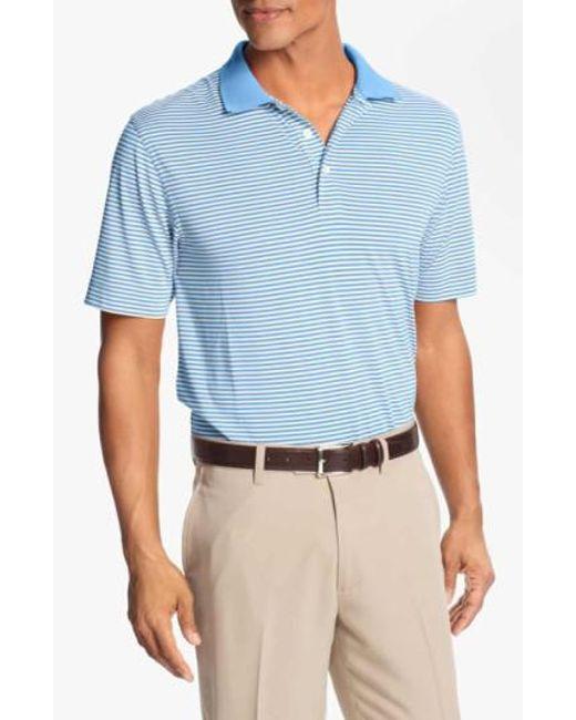 Cutter & Buck | Blue 'trevor' Drytec Moisture Wicking Golf Polo for Men | Lyst