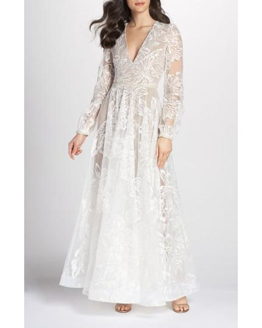 Lyst - Bronx And Banco Bohemian Gown in White