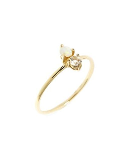 Bony Levy | Metallic Birthstone & Diamond Stacking Ring (nordstrom Exclusive) | Lyst