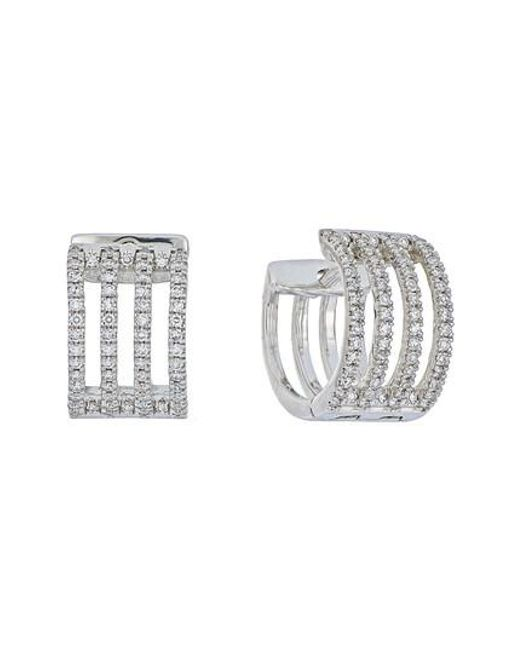 CARRIERE JEWELRY | Metallic Carriere Four-row Diamond Hoop Earrings (nordstrom Exclusive) | Lyst