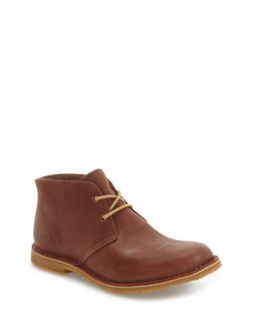 Ugg | Brown Ugg Leighton Chukka Boot for Men | Lyst