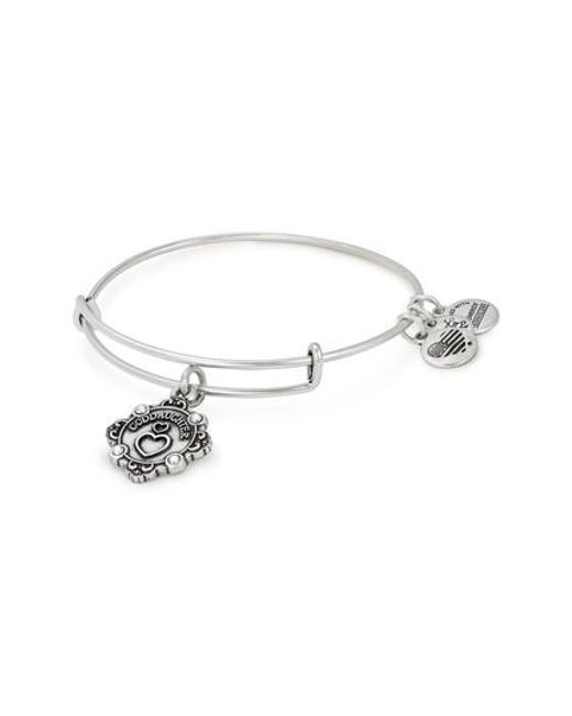 Alex And Ani Metallic Because I Love You Daughter Charm Bangle Lyst