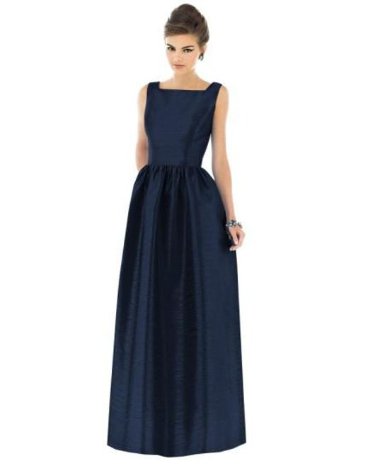 Alfred Sung   Blue Square-Neck Dupioni Full-Length Dress   Lyst