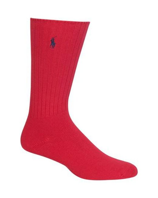 Polo Ralph Lauren | Red Crew Socks for Men | Lyst