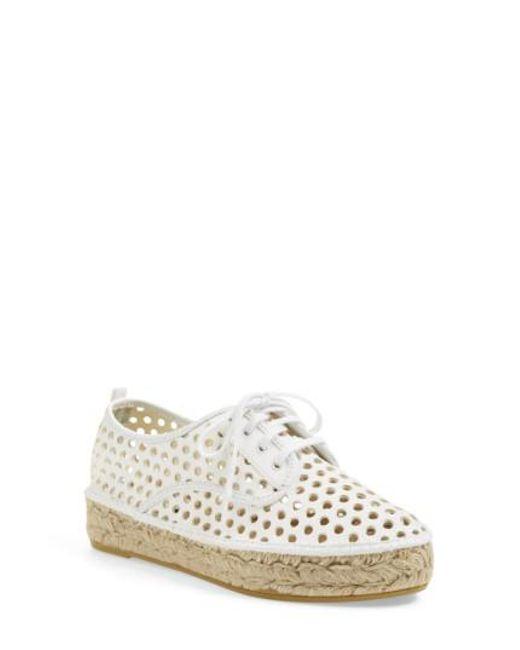 Loeffler Randall | White Alfie Espadrille Sneaker | Lyst