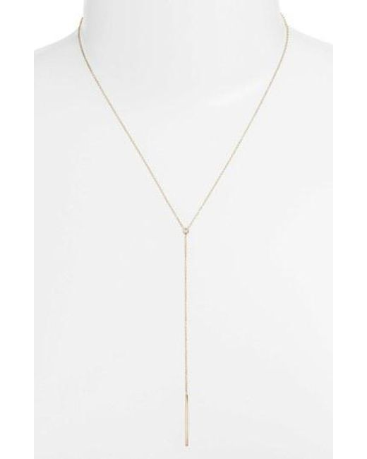 Zoe Chicco - Metallic Diamond Bezel Y-necklace - Lyst