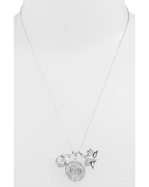 Melinda Maria - Metallic Goddess Of Love Pendant Necklace - Lyst