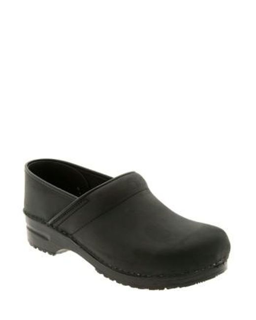 Dansko - Black Professional Oiled Leather Clogs - Lyst
