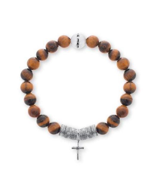 Steve Madden | Brown Cross Charm Bracelet | Lyst