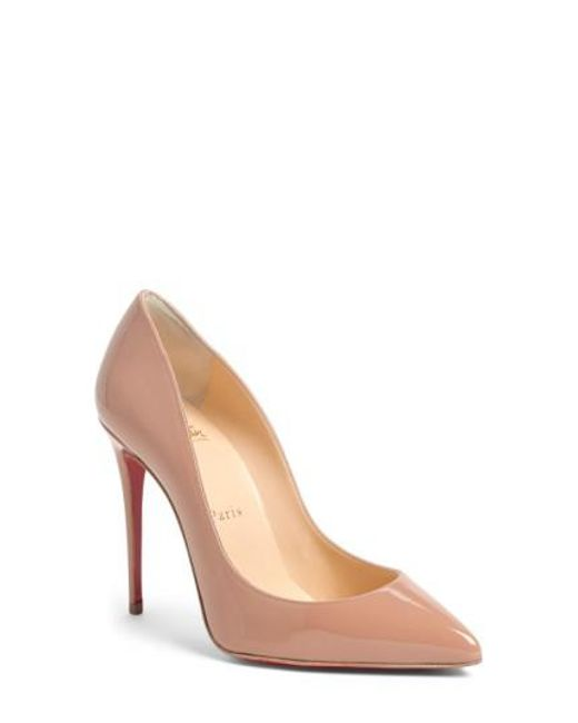 Christian Louboutin - Natural Pigalle Follies Pointed-Toe Patent Leather Pumps - Lyst
