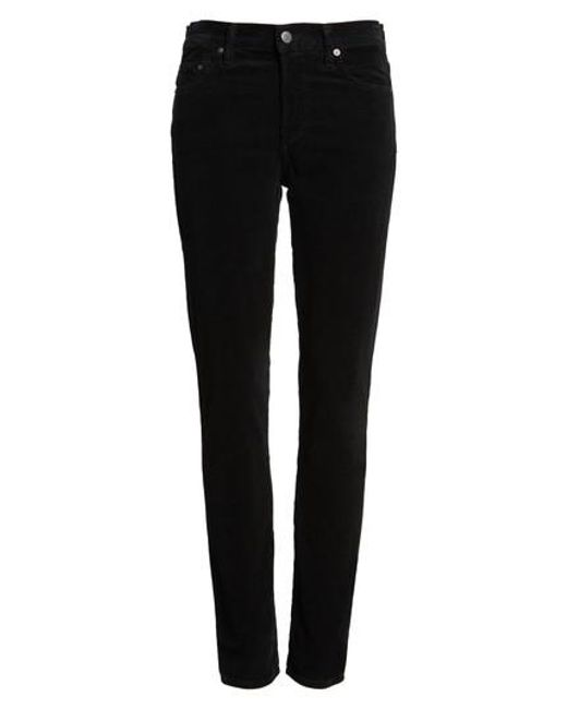 Citizens of Humanity | Black Rocket High Waist Skinny Corduroy Pants | Lyst