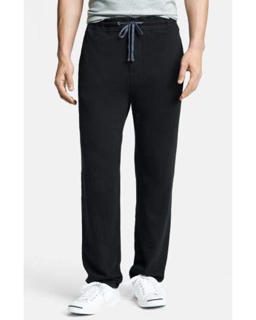 James Perse - Black 'classic' Sweatpants for Men - Lyst
