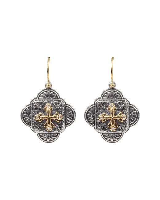 Konstantino - Metallic Diamond Clover Drop Earrings - Lyst