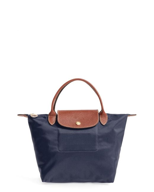 Longchamp - Blue 'small Le Pliage' Top Handle Tote - Lyst